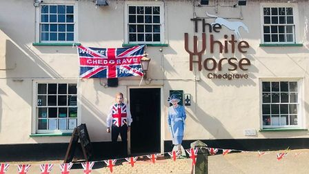 There was a Royal Wedding get-together at The White Horse in Chedgrave. Picture: Courtesy of Maureen