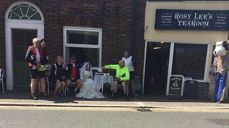 Rosy Lee's tea room in Loddon served Royal-themed tea and cake. Picture: Courtesy of Maureen Larkin