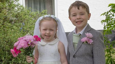 Emmanuel pre-school in Bungay staged its own Royal Wedding. Picture: Jane Vass