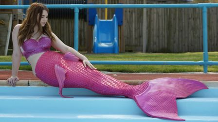 Mermaid Lauren Rymer is helping to raise further funds for Beccles Lido. Photo: Barney Crowley.