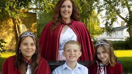 Beccles carnival queen Christine Soanes, with princesses Brooke Lay and Evie Gregson, and prince Har
