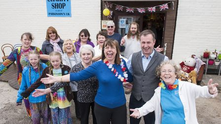 Volunteers outside the new home for the Chedgrave Parkinson's charity shop. Picture: Nick Butcher