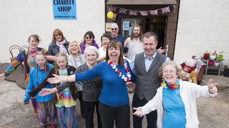 Staff outside the new home for the Chedgrave Parkinson's charity shop.Picture: Nick Butcher