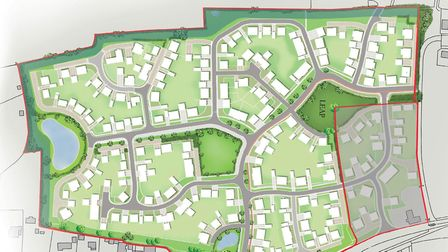 Hopkins Homes plan to build 280 new homes in Beccles. Image courtesy of Hopkins Homes.