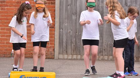 School girls from Albert Pye Primary School take part in a special 'This Girl Can' sports event.Pict