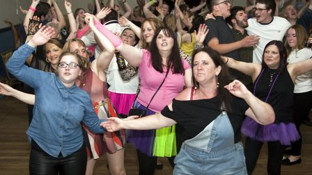 Last year's Summer 70s and 80s Disco Inferno at Beccles Public Hall. Photo: Alan Lyall.