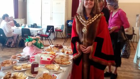 Beccles' new mayor Elfrede Brambley-Crawshaw was in attendance for the celebration. Picture: Laura M