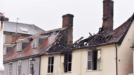 The devastation caused by the fire in Chediston Street, Halesworth. PPicture: Nick Butcher.