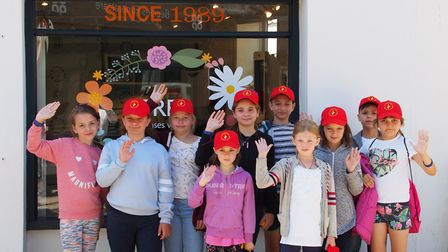 The children during their visit to Observatory the Opticians in Beccles. Picture: Observatory the Op