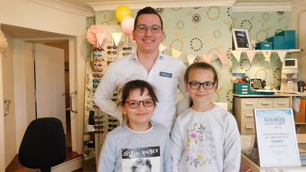 The children during their visit to Observatory the Opticians in Beccles. Picture: Alison Stannard.