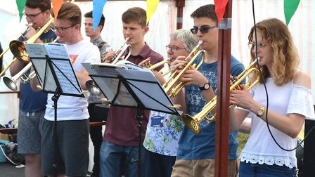 Musicians performing at last year's Beccles Hospital Fete. Picture: Mick Howes.