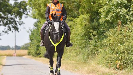 Local Police Volunteer Sarah Hills with her horse Robbie.Picture: Nick Butcher