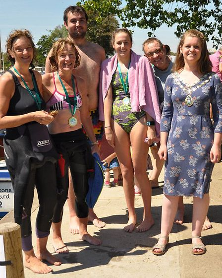 This year's Beccles Charter Weekend also featured its first ever River Waveney Wild Swim. Picture: M