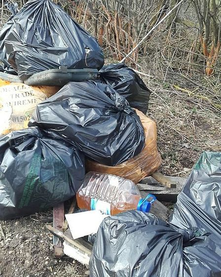 in March Beccles Bombles filled 20 bags with litter and human waste in just one hour at a lay-by on