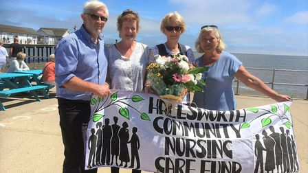 HCNCF trustees Ted and Jane Edwards with Pat Rennie and HCNCF trustee Barbara Kell at the end of her