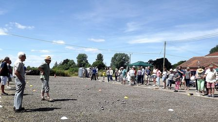 The annual St Peter South Elmham boules tournament will return on July 22. Photo: Tim Maycock.