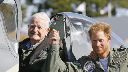 Prince Harry and Tom Neil . Photo: PA Wire
