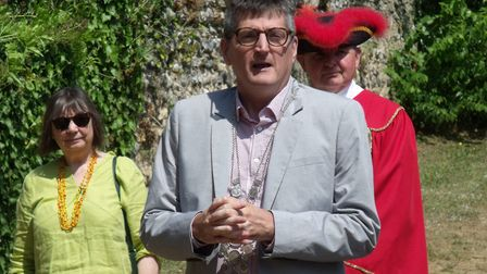 Town reeve Stephen Went at the Bungay Festival opening ceremony. Picture: Terry Reeve.