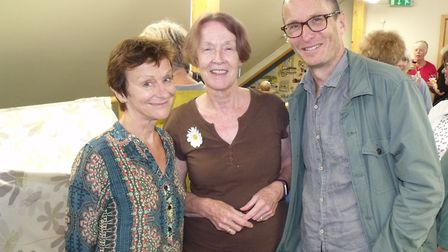 Nicci Gerrard, left, and Sean French with Good Read Group chairman Wendy Robinson. Picture: Terry Re