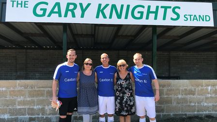 The family of Gary Knights, Liam Hembling, Terry Smart, Kevin Hembling, Lyn Hembling and Carl Hembli