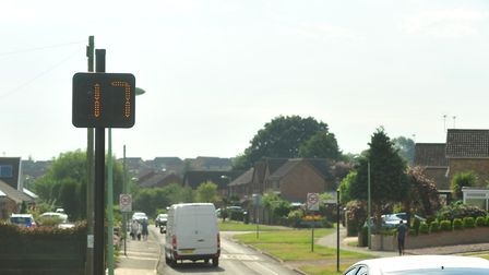 One of the vehicle activated signs on Coney Hill, Beccles. Picture: Nick Butcher.