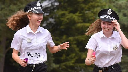Students at Hobart High School, Loddon take part in a 5K race to rasie funds for Big C.Picture: Nick