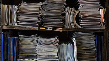 The programmes are arranged in alphabetical order by club, then in season order. Picture: Sonya Dunc
