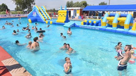 Beccles Lido has been extremely popular during the current hot weather.Picture: Nick Butcher
