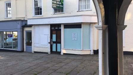 The former Lloyds bank in Bungay has now been boarded up. Photo: James Carr.