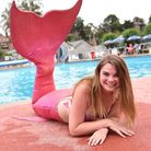 Beccles Mermaid, Lauren Rymer supports the Beccles Lido campaign to raise money for essential works