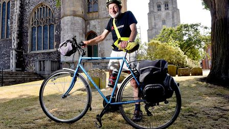 Peter Langford, a retired Vicar from Beccles is set to cycle from Lands End to John O'Groats.Picture