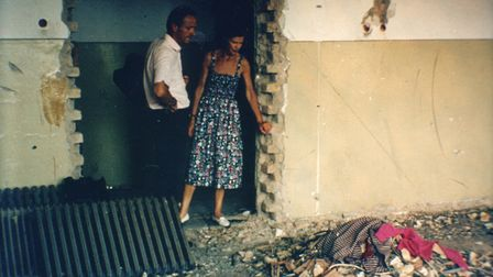 Mark and Caroline Cook in Sarajevo in 1994. Picture: Hope and Homes for Children