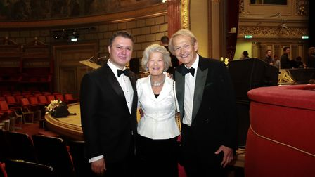 Stefan Darabus, with Caroline and Mark Cook. Picture: Steve Coffey