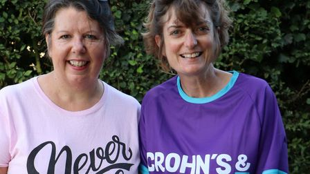 Karen Lomax and Jane Wheeler, who are to walk the length of the River Waveney. Picture: Mark Wheeler