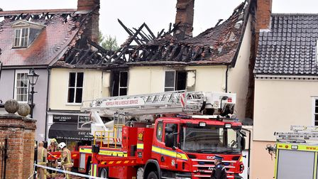 The aftermath of the fire. Picture: Nick Butcher