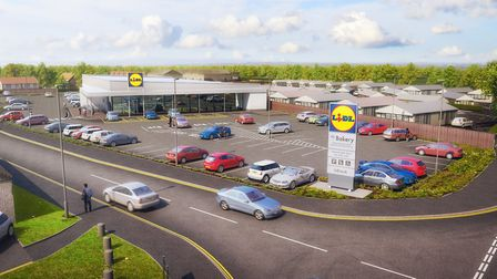 Plan for the new Lidl store in Common Lane North, Beccles. Picture: Lidl UK.