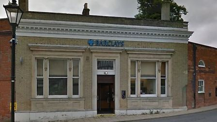 Barclays bank in Halesworth which will close in November. Picture: Google