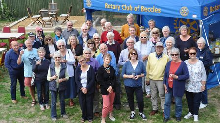 Everyone at the buffet lunch as Beccles Rotary Club welcome visitors on the Dutch exchange. Picture: