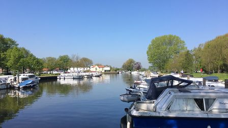 Beccles Quay on Bank Holiday Monday. photo: James Carr
