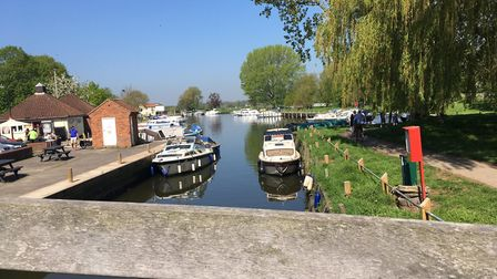 Beccles Quay on Bank Holiday Monday. photo: James Carr.