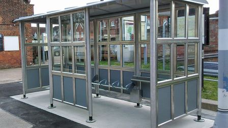 The new platform shelter at Beccles Railway Station. Picture: East Suffolk Lines Community Rail Part