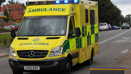 """An ambulance crew was left """"shaken"""" after crashing into a ditch. Picture: Archant Library."""