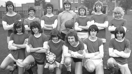 The football team at Sir John Leman School in Beccles, March 1974. Photo: Archant Library