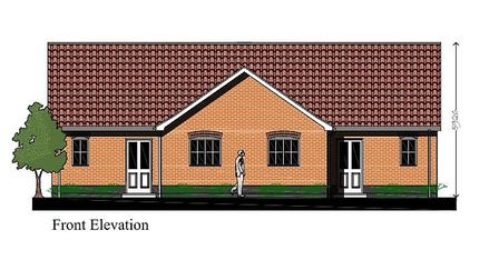 The external design of the one bedroom house. Picture: Hopkins Homes