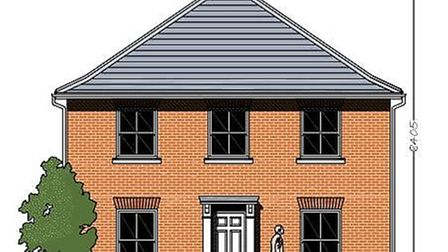 The external design of the four bedroom house. Picture: Hopkins Homes