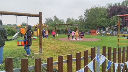 Reopening of Ringsfield and Weston Play area. Pictures: Louise Rees and Sarah Statt