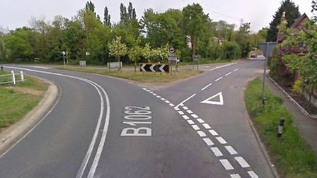 The crash happened on the B1062 near the junction with Church Road in Flixton Picture: Google.