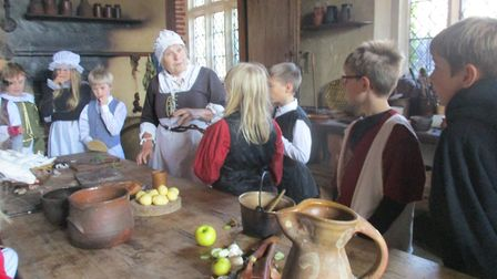 Pupils at Albert Pye Primary School in Beccles enjoyed spending the day as a Tudor child. Pictures: