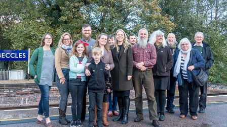 Green Party leader Sian Berry visited Beccles last month. Photo: Graham Elliott.