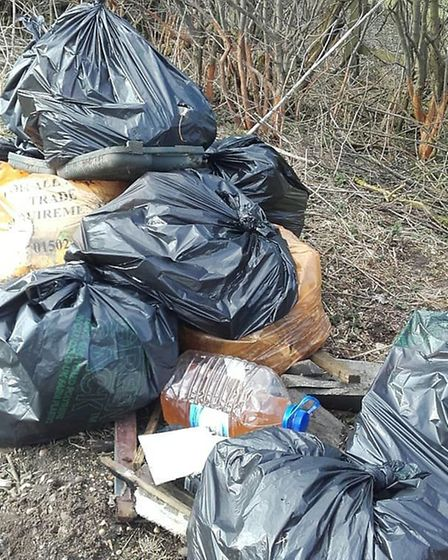 Beccles Bombles filled 20 bags with litter and human waste in just one hour at a lay-by on the A146.